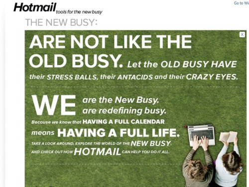 Hotmail. Tools for The New Busy.